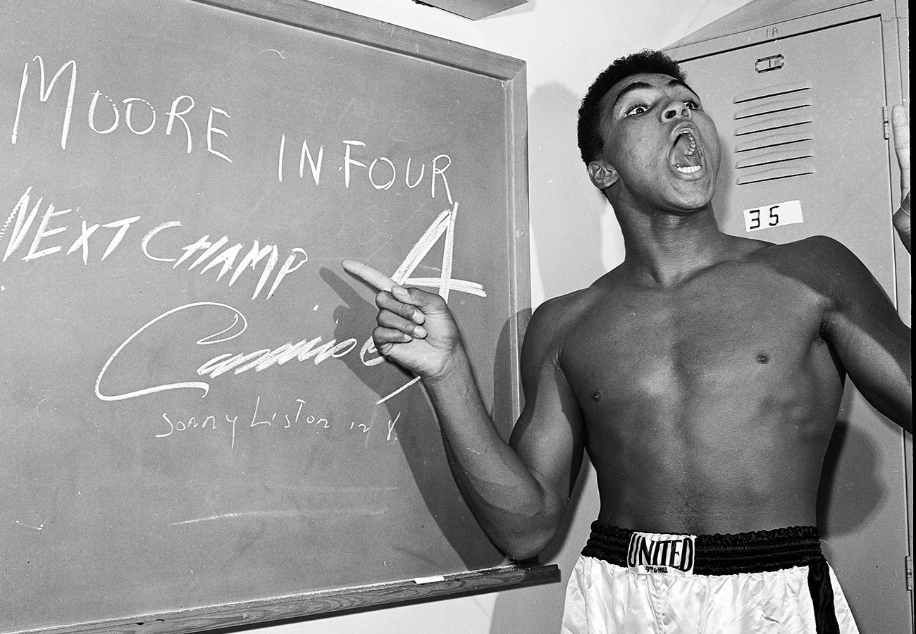 I done wrestled with an alligator, I done tussled with a whale; handcuffed lightning, thrown thunder in jail; only last week, I murdered a rock, injured a stone, hospitalized a brick; I'm so mean I make medicine sick. - Muhammad Ali